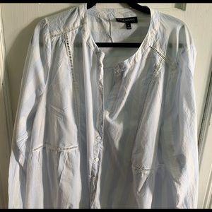 Lane Bryant linen blouse